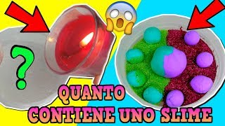 SLIME! QUANTI INGREDIENTI RIESCO A METTERE DENTRO? (How much can SLIME hold) Iolanda Sweets