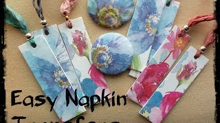 Easy Napkin Transfers for Polymer Clay