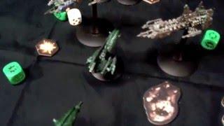 Battle Fleet Gothic - Battle Report - Dark Eldar vs Space Marines