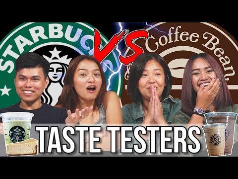 Starbucks VS Coffee Bean | Taste Testers | EP 109