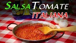 Receta de la Autentica Salsa de Tomate Italiana