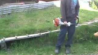 STIHL FS 38(Voici une vidéo de démonstration de mon taille herbe STIHL FS 38 Here is a video of my STIHL FS 38 Grass Trimmer Suivez moi sur Google+ ..., 2014-06-13T23:56:20.000Z)