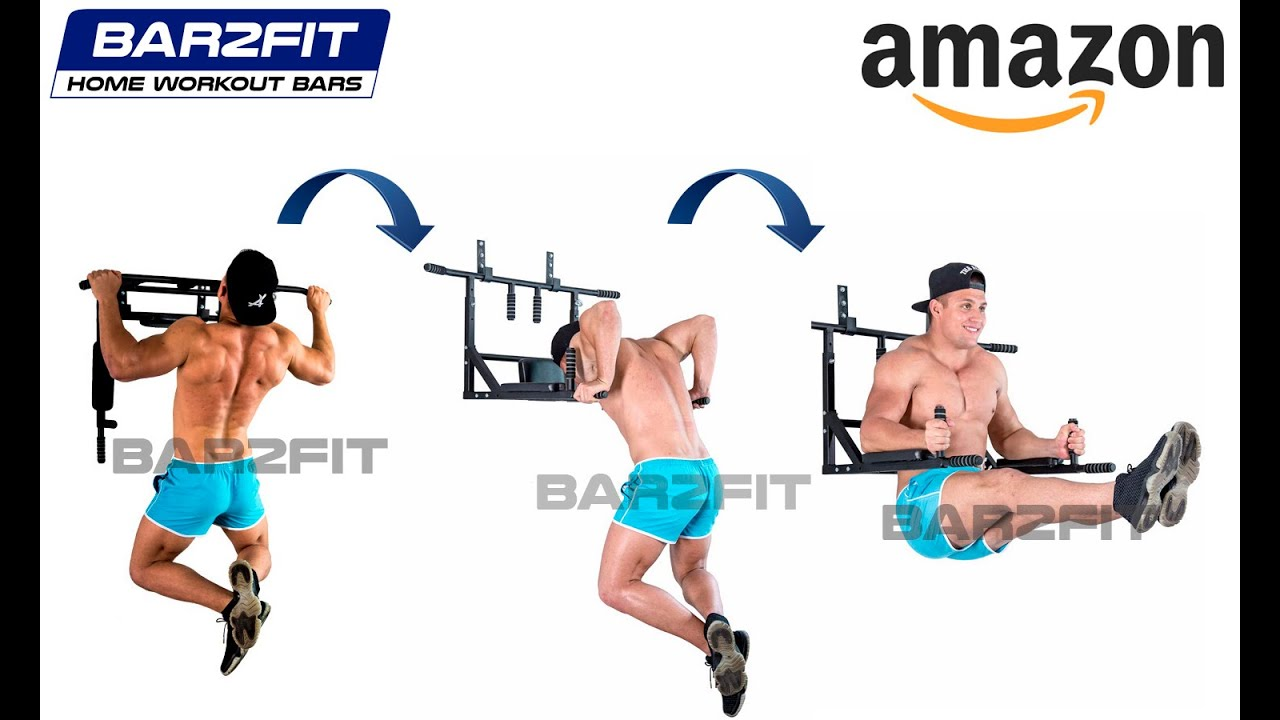 Wall Mounted Pull Up Bar Chin Up Bar With Dip Bars Up