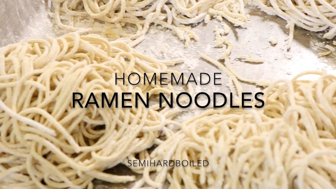 Homemade Japanese Ramen Noodles From Scratch Youtube