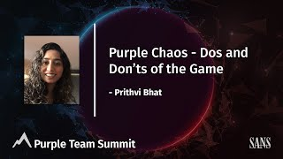 Purple chaos - Dos and Don'ts of the game