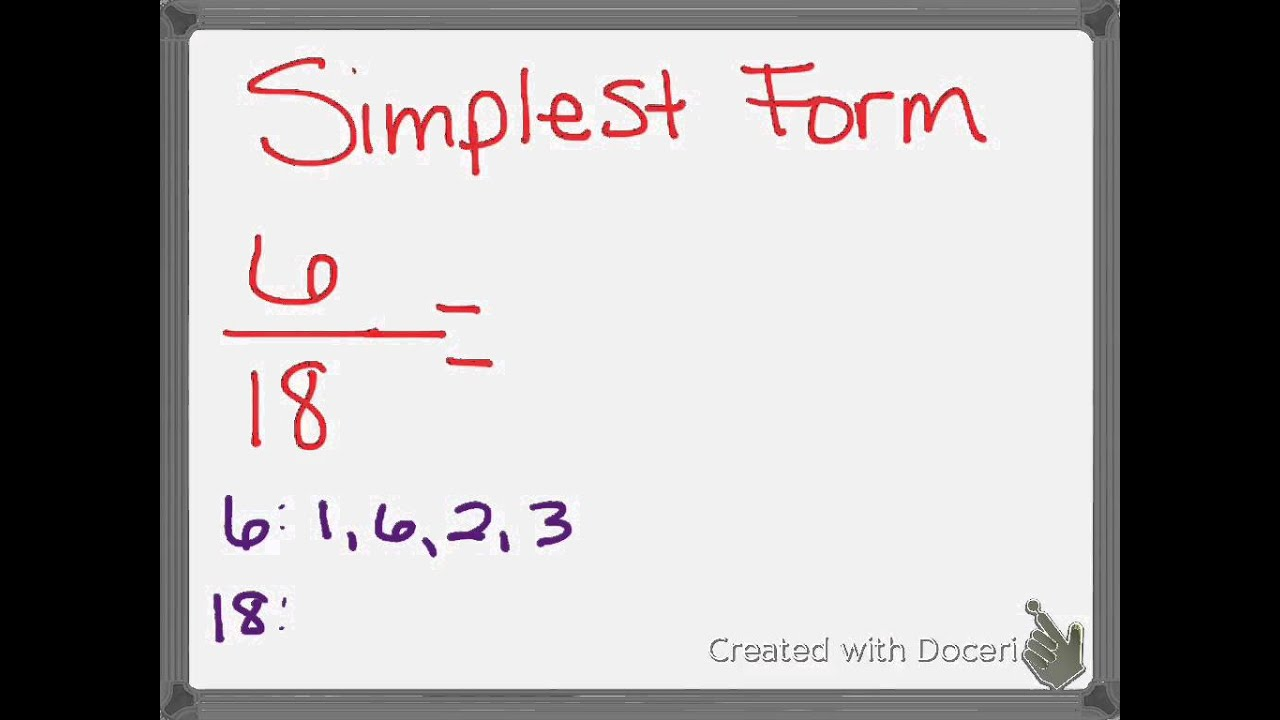 Ch. 6 Equivalent Fractions & Simplest Form - YouTube