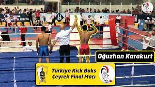 Türkiye Kick Boks Şampiyonası / Çeyrek final / Oğuzhan KARAKURT / Kırmızı köşe / 75 kg / Low kick