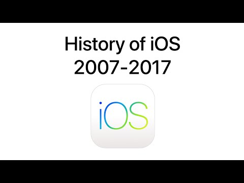 History of iOS (2007-2017) 4K 60FPS