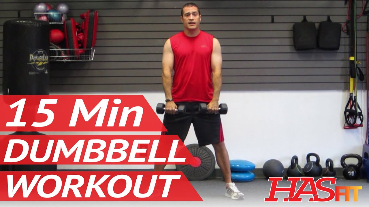 HASfit 15 Minute Dumbbell Workout Routine
