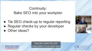LSC ITC 2021 Creating an SEO Recipe for Success