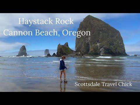 Visiting Haystack Rock At Cannon Beach, Oregon