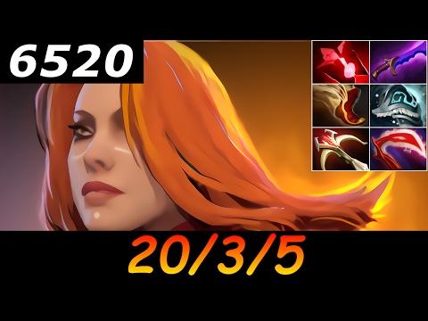 Dota 2 Lina 6520 MMR 20/3/5 (Kills/Deaths/Assists) Ranked Full Gameplay