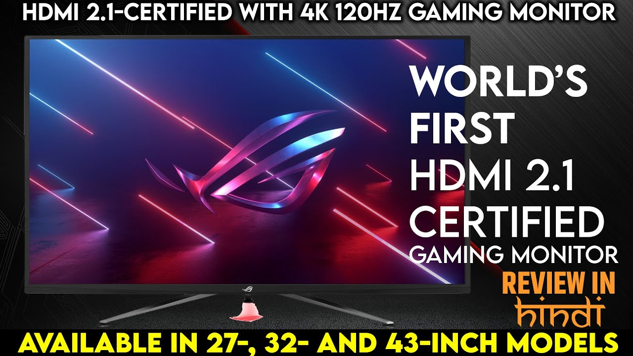ASUS ROG HDMI 8.8-Certified Gaming Monitor Launch Soon  Available in 87-,  38- and 8-Inch Models