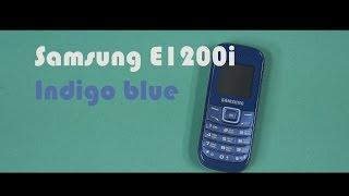 Распаковка Samsung E1200i Indigo blue Подробнее: http://rozetka.com...