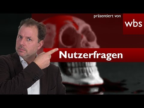Recht auf Erbe, wenn man seine eigenen Eltern umbringt? | Nutzerfragen RA Christian Solmecke