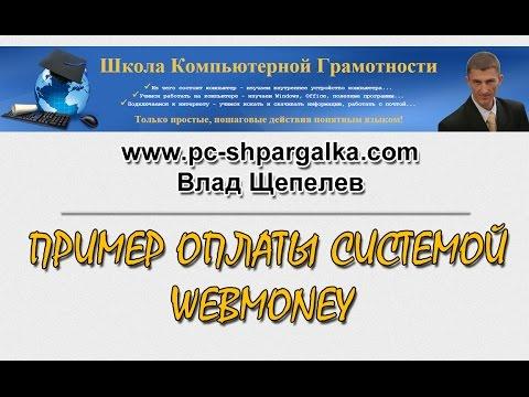 Пример оплаты системой WebMoney