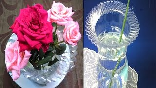 How to Make a Flower Vase out of a Plastic Bottle