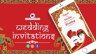 ✅ MV003 Invitation For Traditional Marriage || Unique Wedding Invitation Online ||
