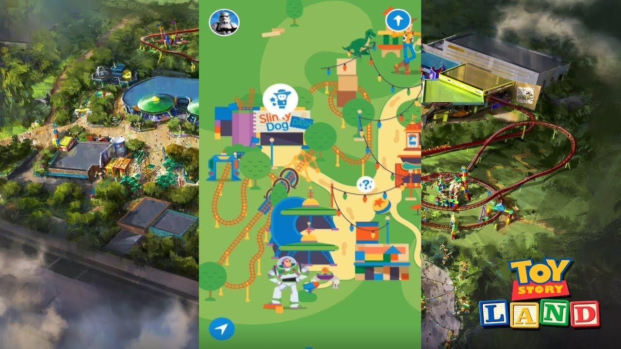 Play Disney Parks Disney Hollywood Studios Map Games - YouTube
