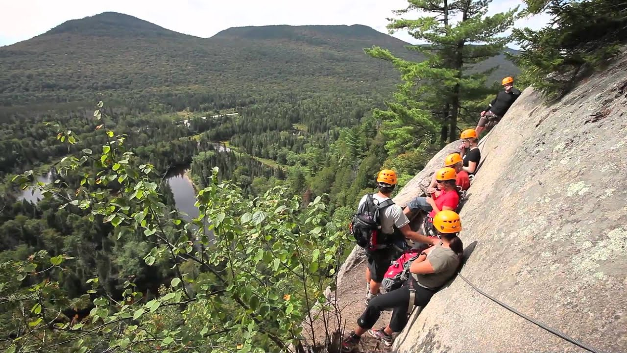 via ferrata du diable au parc national du mont tremblant. Black Bedroom Furniture Sets. Home Design Ideas