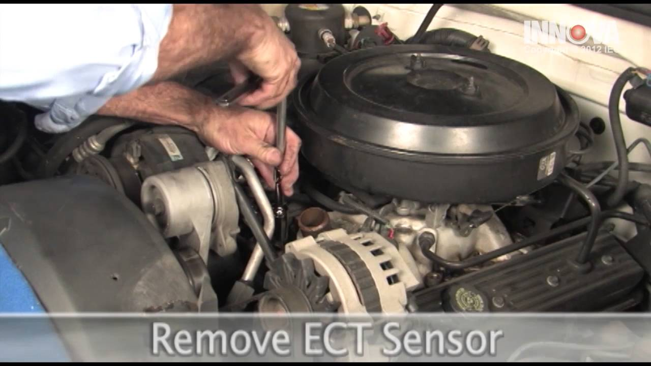 how to change engine coolant temperature ect sensor 1995 chevy suburban youtube [ 1280 x 720 Pixel ]