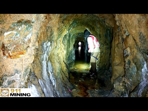 Wading Through A Flooded Gold Mine To Find Gold!