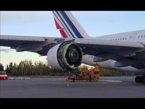 Curious - Air France A380 makes emergency landing in Canada with damaged engine