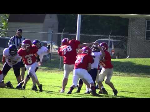 Pj Brown #78 at blocking back Monroe Trojan Football