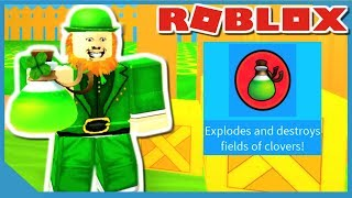 How Powerful Is The Clover Bomb - Roblox Leprechaun Simulator