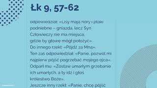 #Ewangelia   3 października 2018   (Łk 9, 57-62)