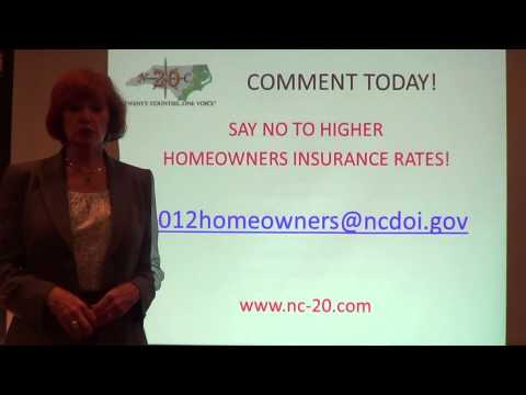 Say No to NC Homeowners Insurance Rate Increases!