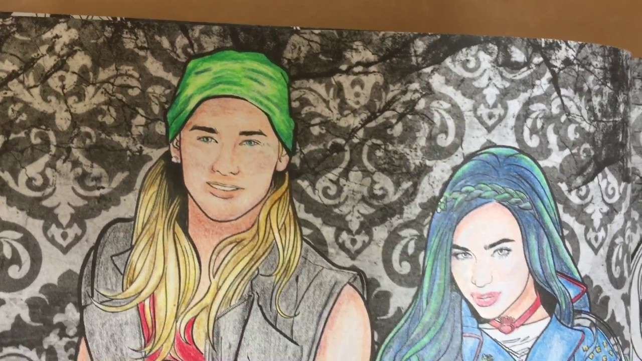 disney descendants 2 adult coloring book july 2017 - Descendants Coloring Book