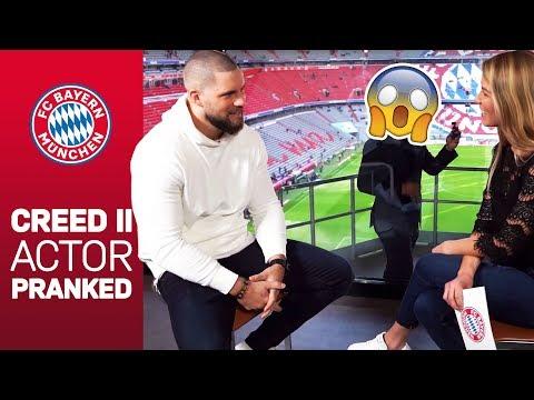 FC Bayern surprises Creed II actor Florian Munteanu
