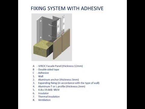 fibercement uygulama - yapıştırma sistem