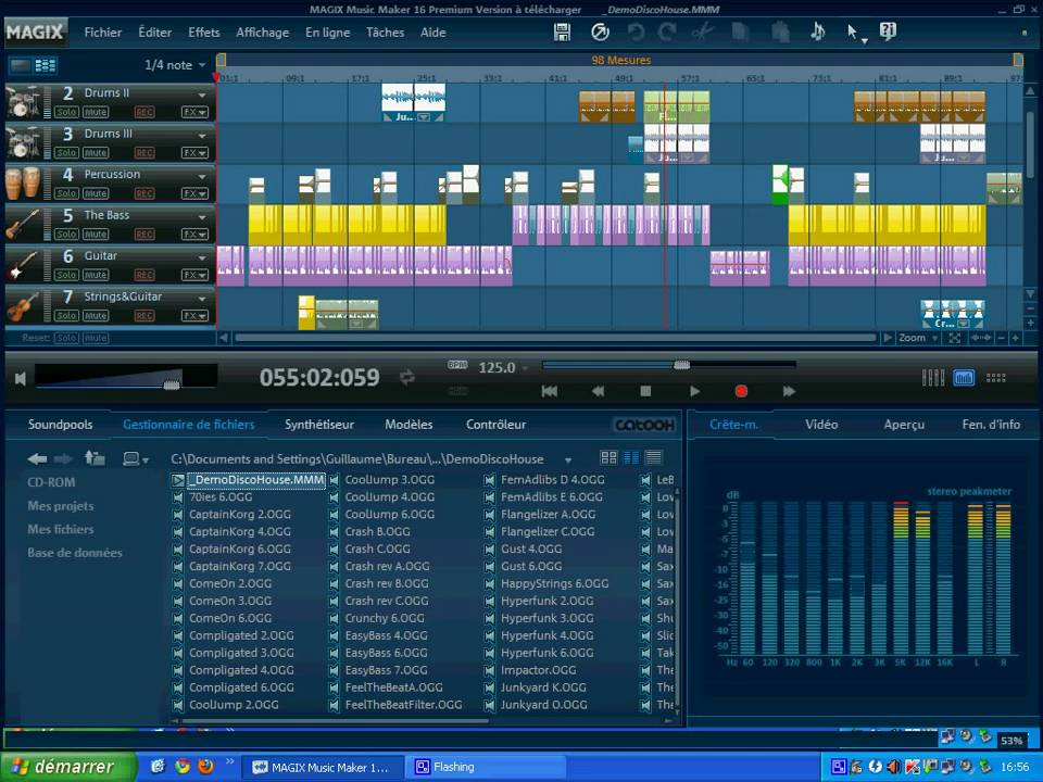 Magix Music Maker 16 - Démo Disco House (instruments MMM 2007) - YouTube