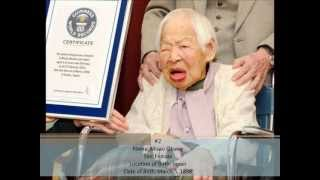 10 Oldest Living People (May 17, 2013)