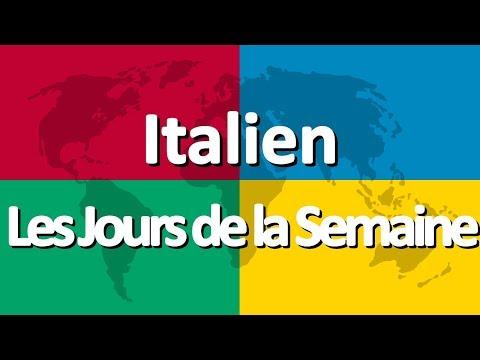 Apprendre l'italien partie 1   Les Jours de la Semaine