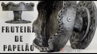 FRUTEIRA FEITA DE PAPELÃO : CRAFT E ART