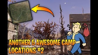 Fallout 76 - Another 5 Awesome Camp Locations + Place Walls and Roofs Almost Anywhere Tutorial!