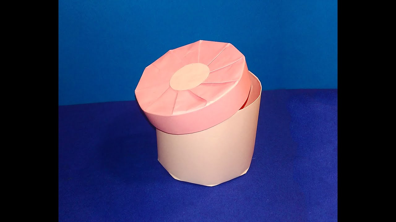 DIY Cylindrical Gift Box Easy Candy Round Shape Great Ideas For Christmas Caixa Redonda