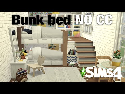 Sims 4 Bunk Bed | NO CC | Tutorial | NEW Platforms | Sims 4 Building Tips & Tricks