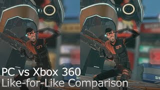 Monday Night Combat - Xbox 360 vs PC Graphics Comparison (Like-for-Like)