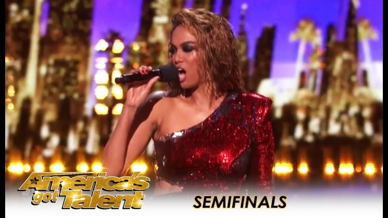 Tyra Banks HOT As Ever Intros The 'AGT' Semi-finals   America's Got Talent  2018