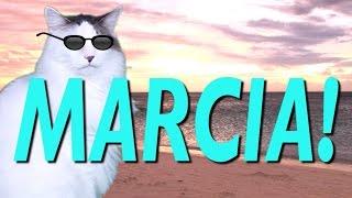 HAPPY BIRTHDAY MARCIA! - EPIC CAT Happy Birthday Song