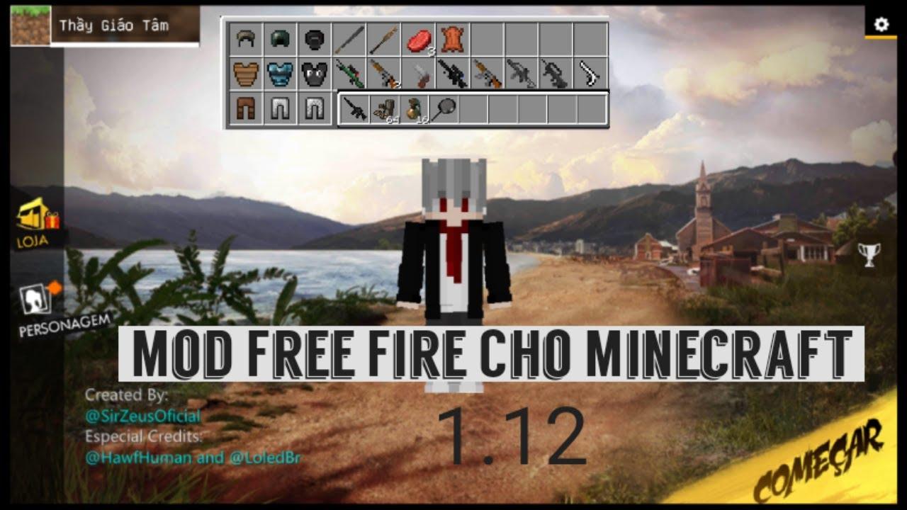 Cách Cài Addon Free Fire Cho Minecraft PE 1.12