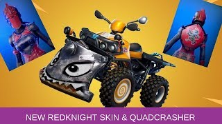FORTNITE -  RED KNIGHT SKIN AND QUADCRASHER played by TNTextreme
