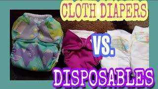 Cloth Diapers VS. Disposable Diapers | Cost, Size Comparison, Reasons to use cloth.