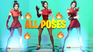 FORTNITE ALL LOBBY POSES AUF DEMI SKIN (LOOKS AMAZING!!)