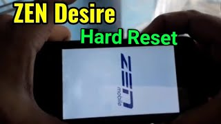 ZEN Desire Hard Reset or Pattern Unlock Easy Trick With Keys