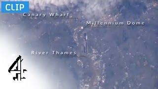 London and the River Thames Seen from the ISS   Space Week Live   Channel 4